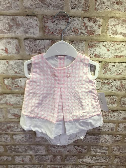 Pink/White Dress & Knickers