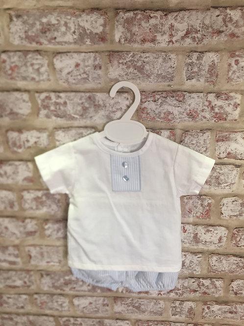 White/Blue Shorts & TShirt