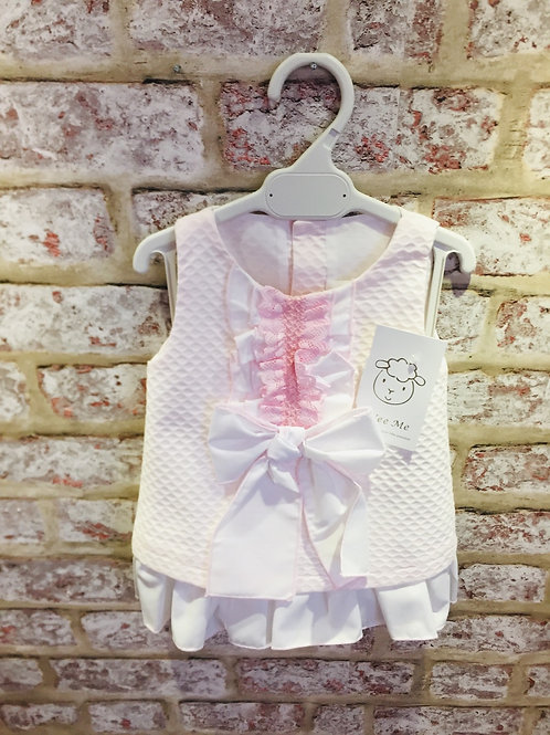 Weeme Pink/White Dress & Knickers