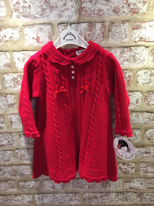 Red Knitted Dress Sarah Louise