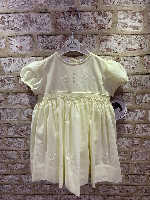 Sarah Louise Lemon Smocked Dress