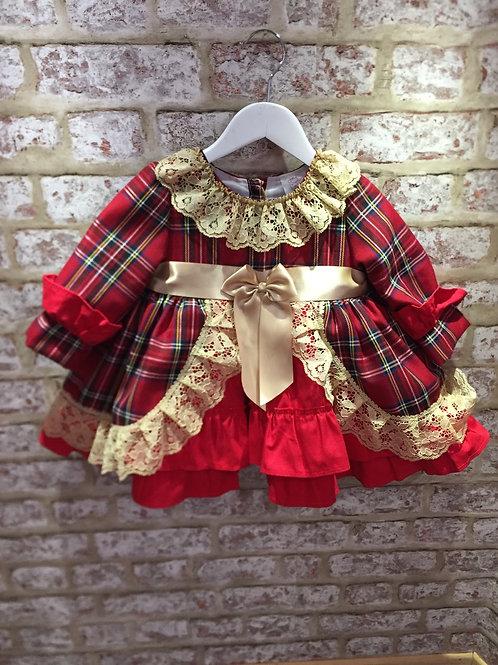Weeme Red/Gold Tartan Dress