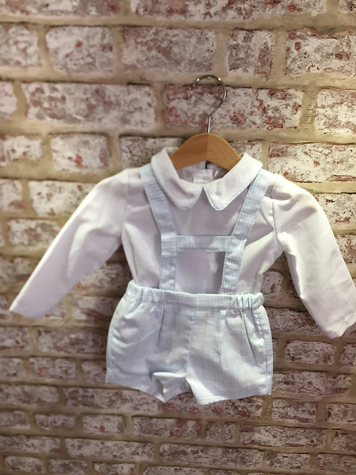 Baby Blue H Strap Two Piece Set By ninas & ninos