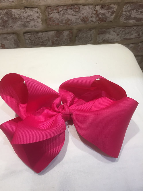 "Hot pink 8"" Bows, Alligator Clips"