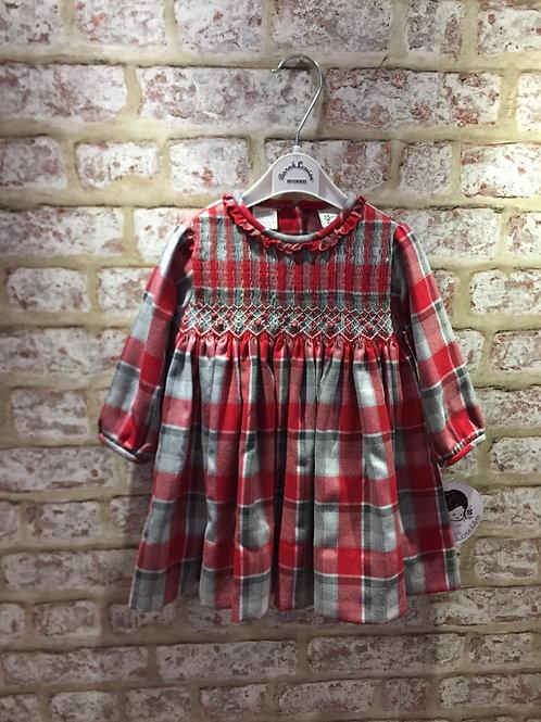 Sarah Louise Grey/Red Tartan Dress