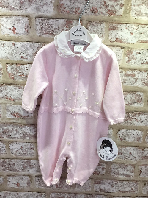 Sarah Louise Knitted All In One In Pink And In Ivory