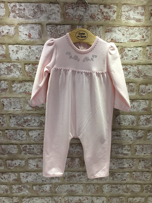Emile et Rose Baby Pink All In One With Diamante detail