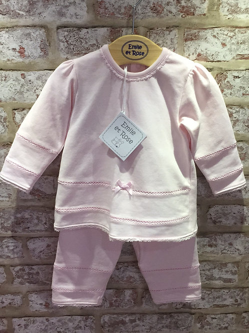 Emile et Rose Pink Two Piece Set