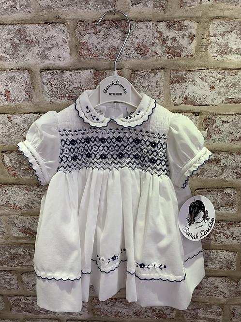 White/Navy Sarah Louise Dress