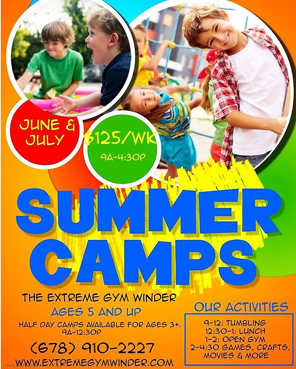 Sign up for Summer camps on our website!