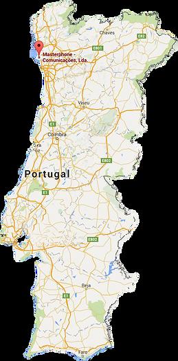 Mapa Portuga