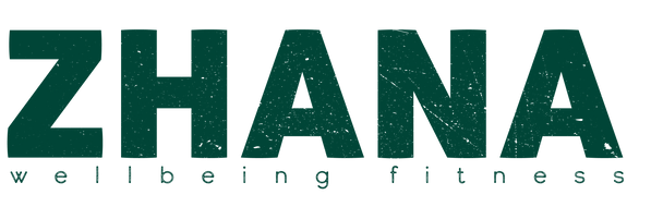 zhana wellbeing fitness logo green