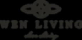 Wen living logo slogan BROWN.png