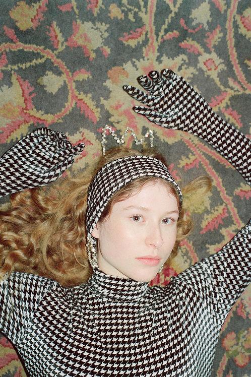 Velvet Houndstooth Hairband
