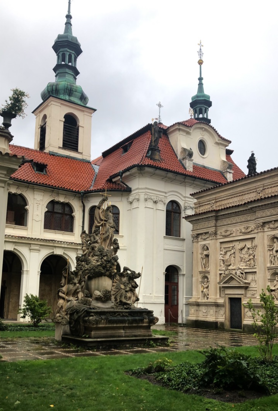 Loreto Church near the Prague Castle. We got to go up to its organ and get a personalized demo during one of our architecture walks!