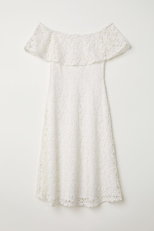 Uncovered Shoulder Dress, H&M