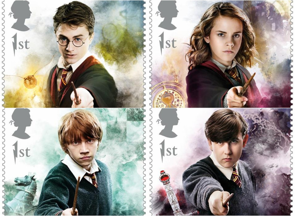 Royal Mail released a limited edition ofHarry Potter Stamps