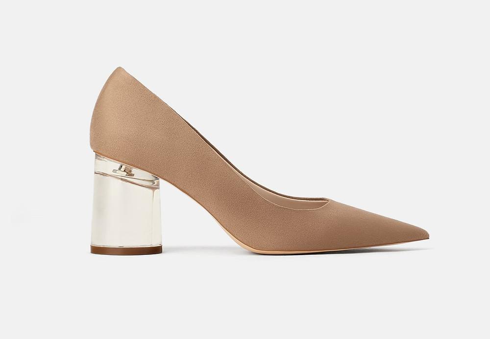 Acrylic High Heel Shoe, Zara