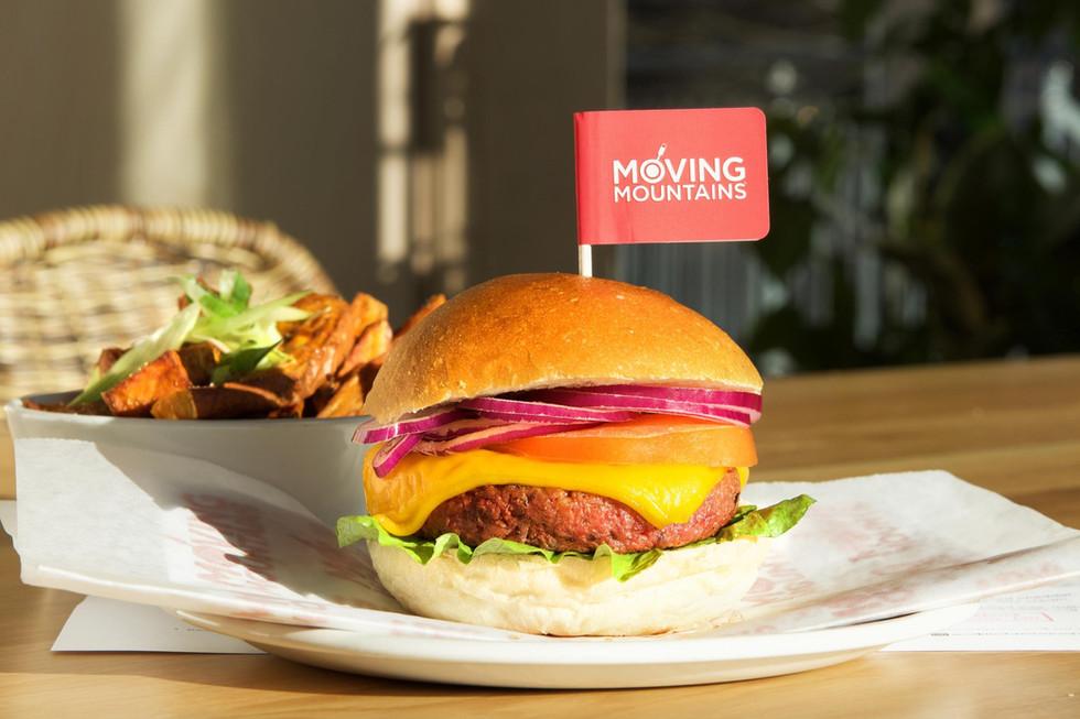 The Vegetarian Burger smelling like meat