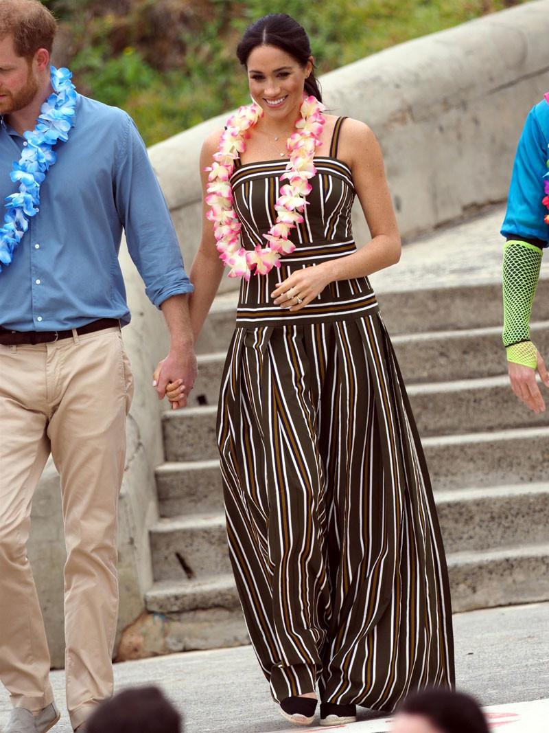Meghan Markle's striped Martin Grant maxi dress