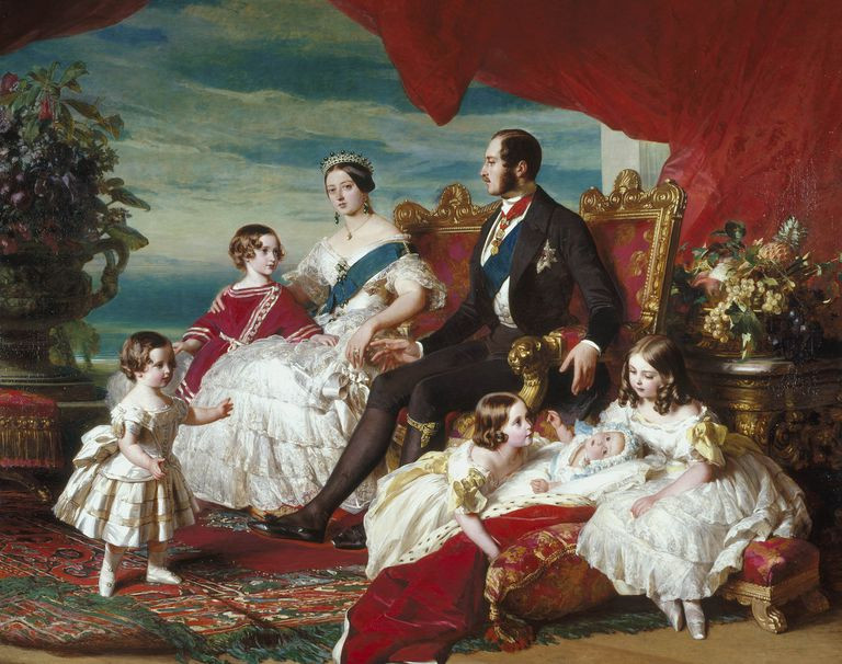 Queen Victoria and Prince Albert painting