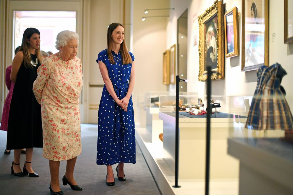 Queen Elizabeth's reactions to the new Buckingham Palace Exhibition
