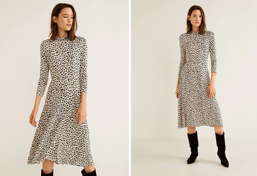 Animal print dress, Mango (19,99 €)
