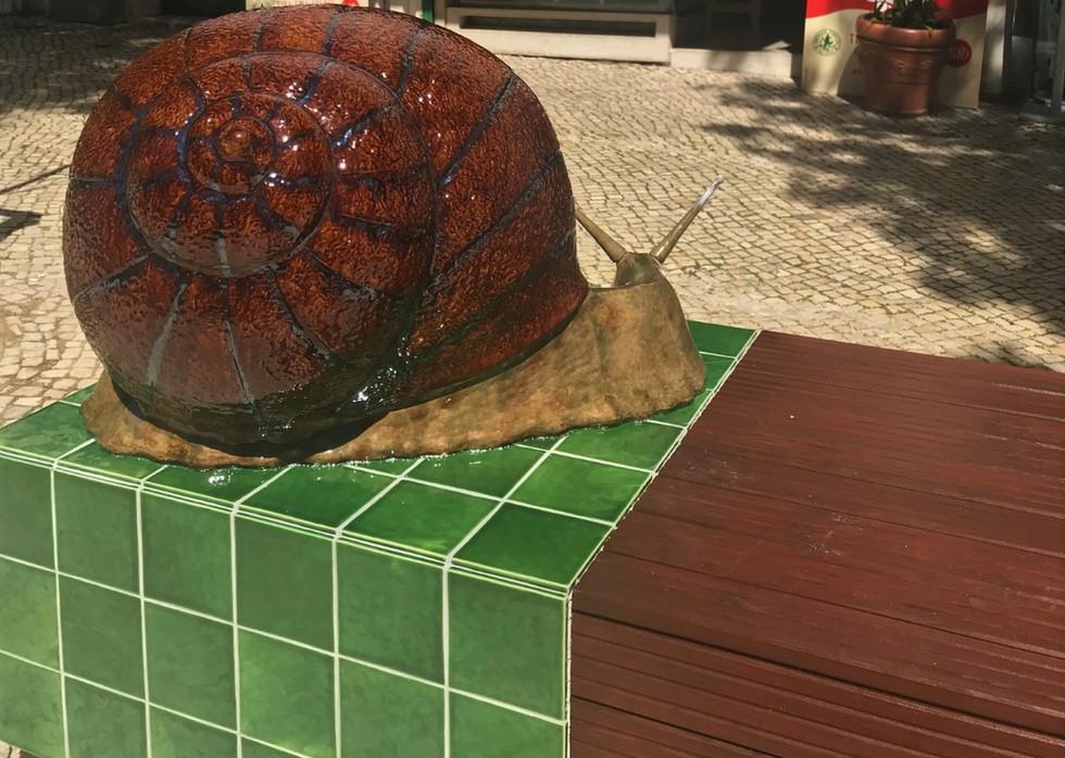 Giant Cat and Snail by Bordallo Pinheiro