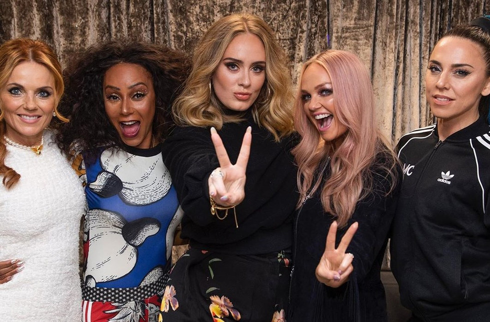 Celebrities didn't resist the Spice Girls World Tour