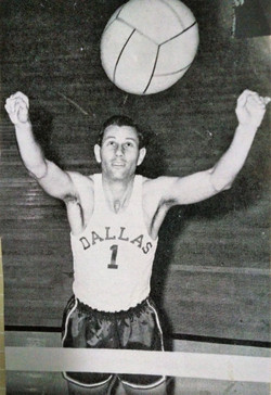 Frank Campbell Playing Volleyball