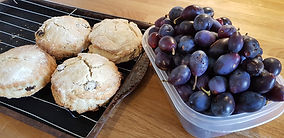 Scones and damsons