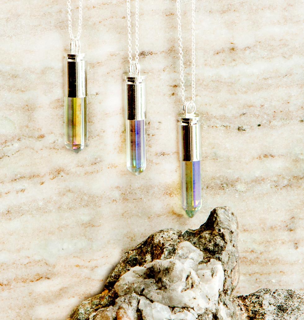 Quartz Bullet Necklaces