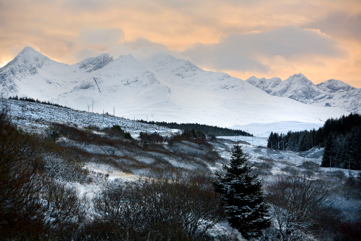 The Cuillin in winter