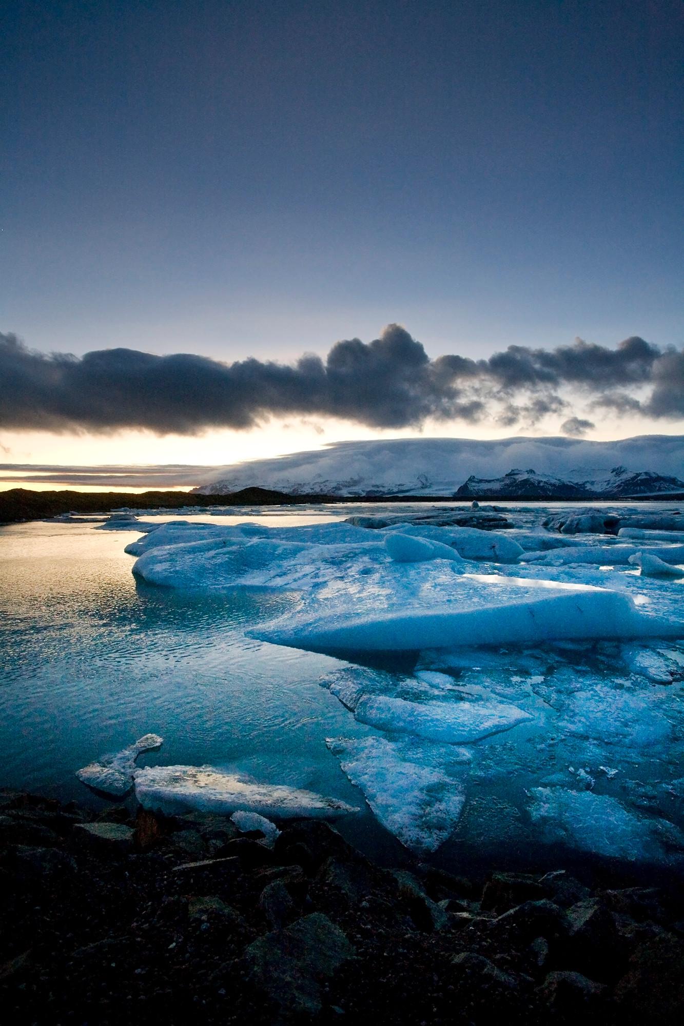 Sunset, Jokusarlon, Iceland