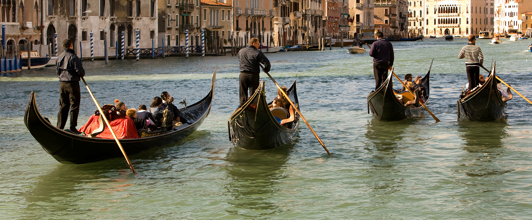 Gondoliers, Grand Canal, Venice
