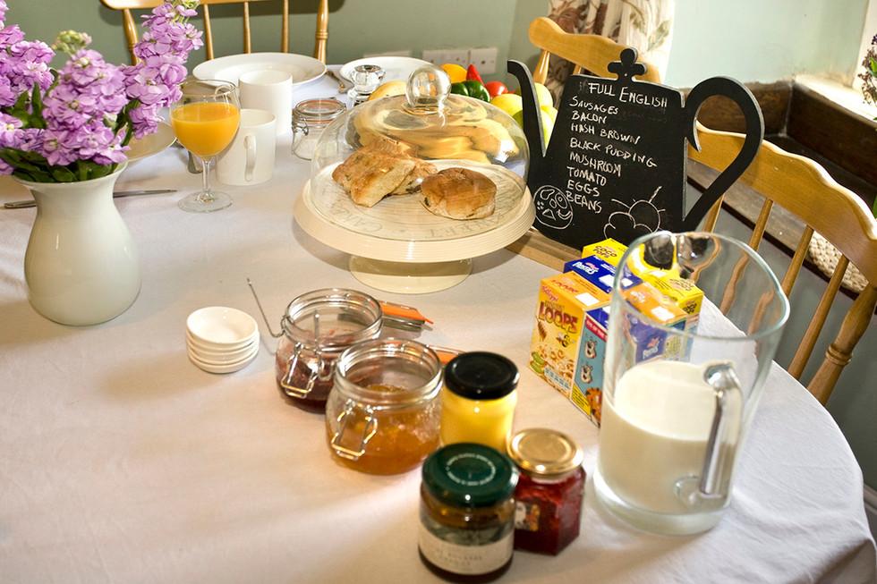 Breakfast and breakfast menu