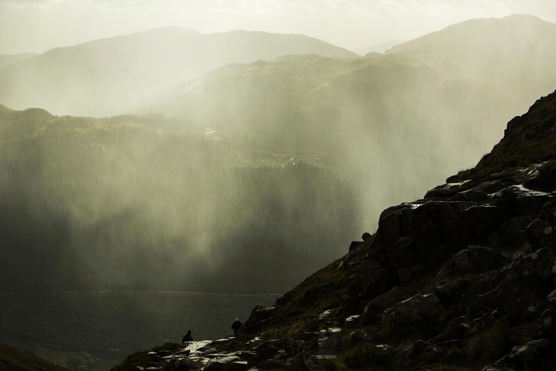 Curtain of rain and sunshine, Glen Nevis