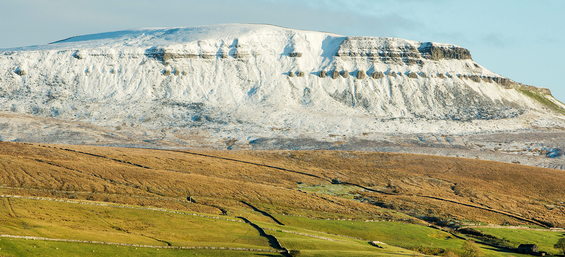 Snow covered Pen-y-Ghent