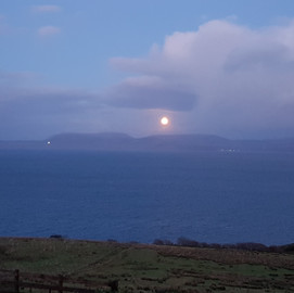 Moonrise from the cottage
