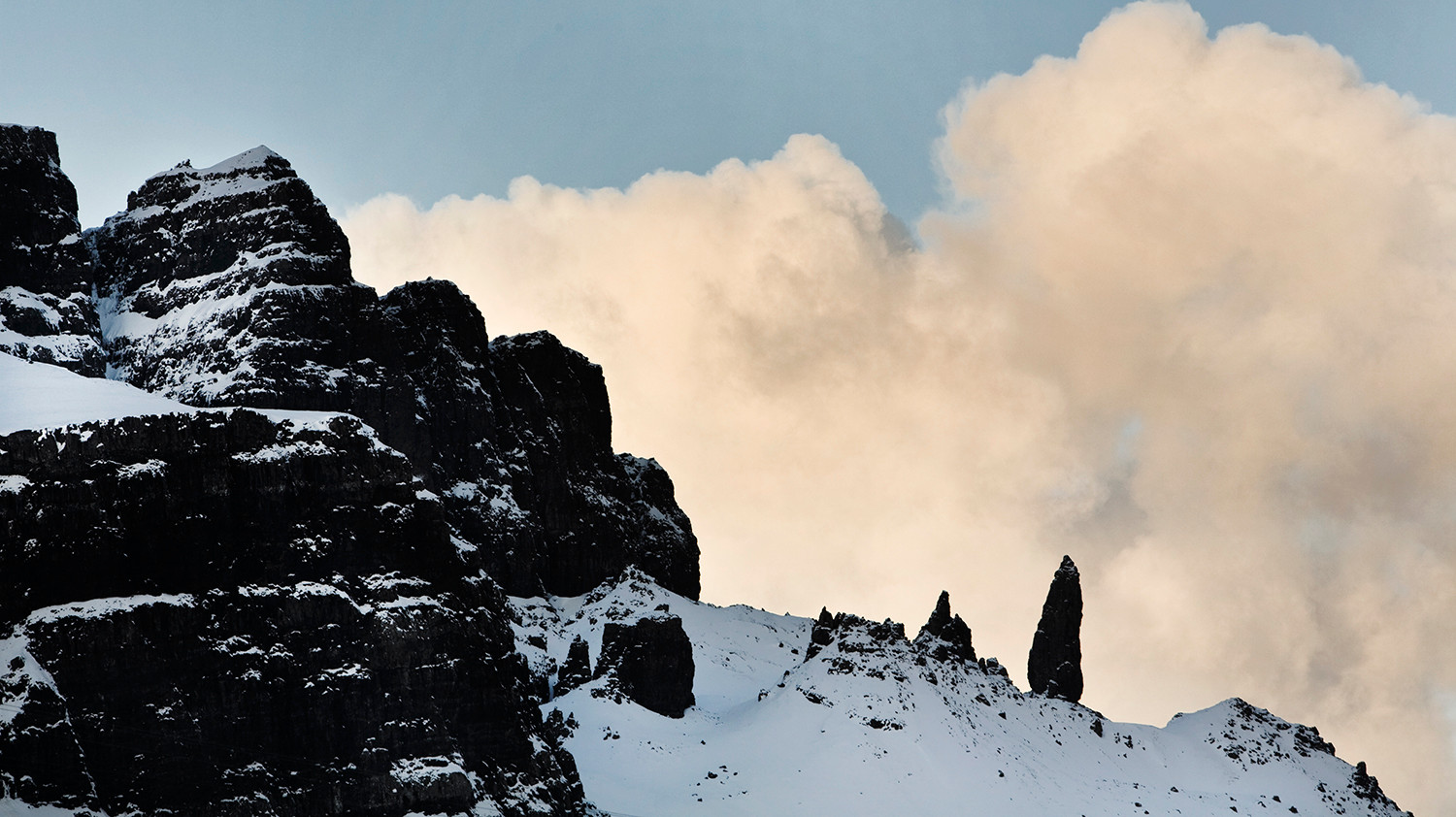 The Old Man of Storr, winter
