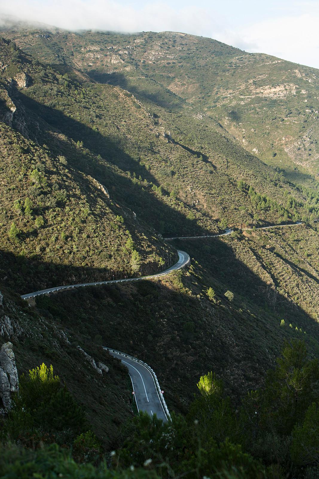 Mountain road, Sierra de Bernia, Tarbena Spain