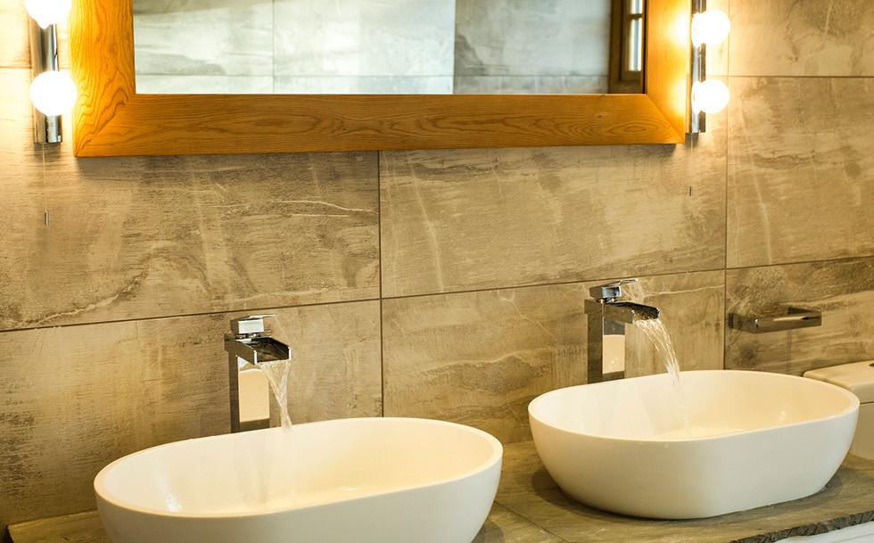 Contemporary bathroom basins and taps