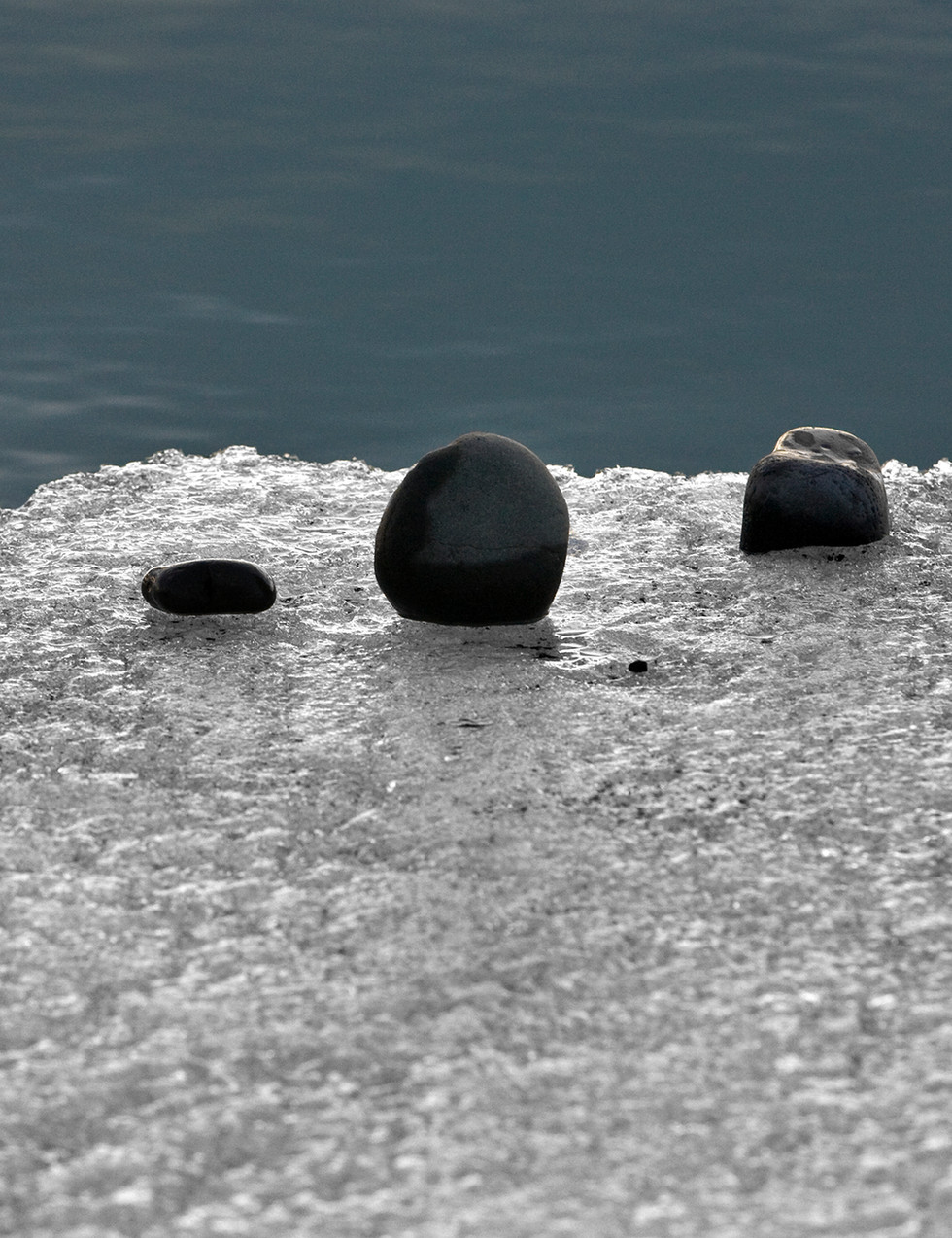 Ice and pebbles, Jokusarlon