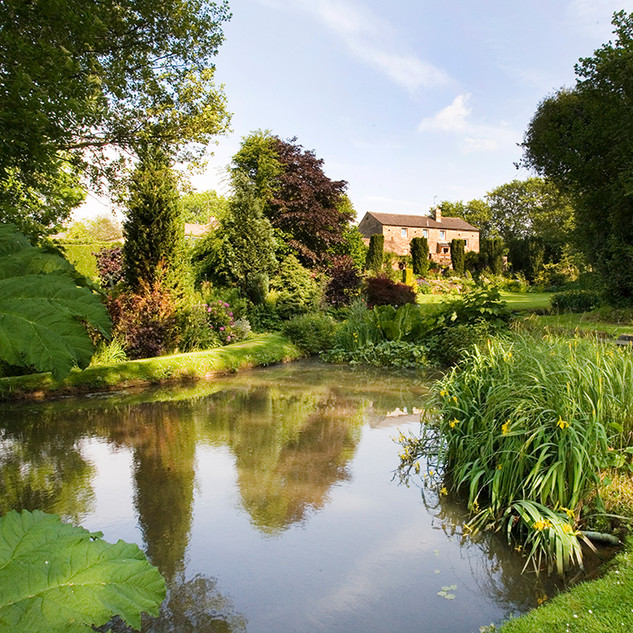 Clearbeck House from the pond