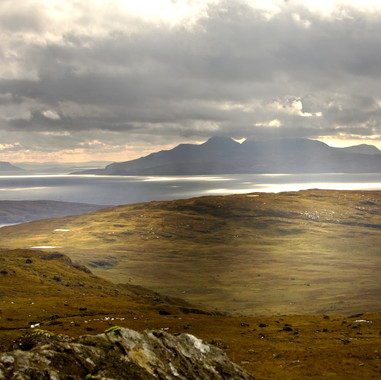 Rum Canna and Eigg from Coire Lagan