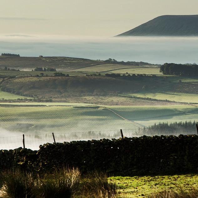 Mist in the Hodder Valley