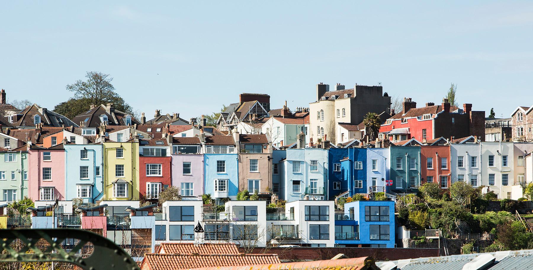 Colourful houses, Hotwells, Bristol