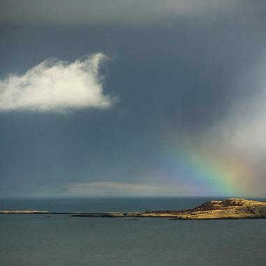 Rainbow over the Ascrib Islands