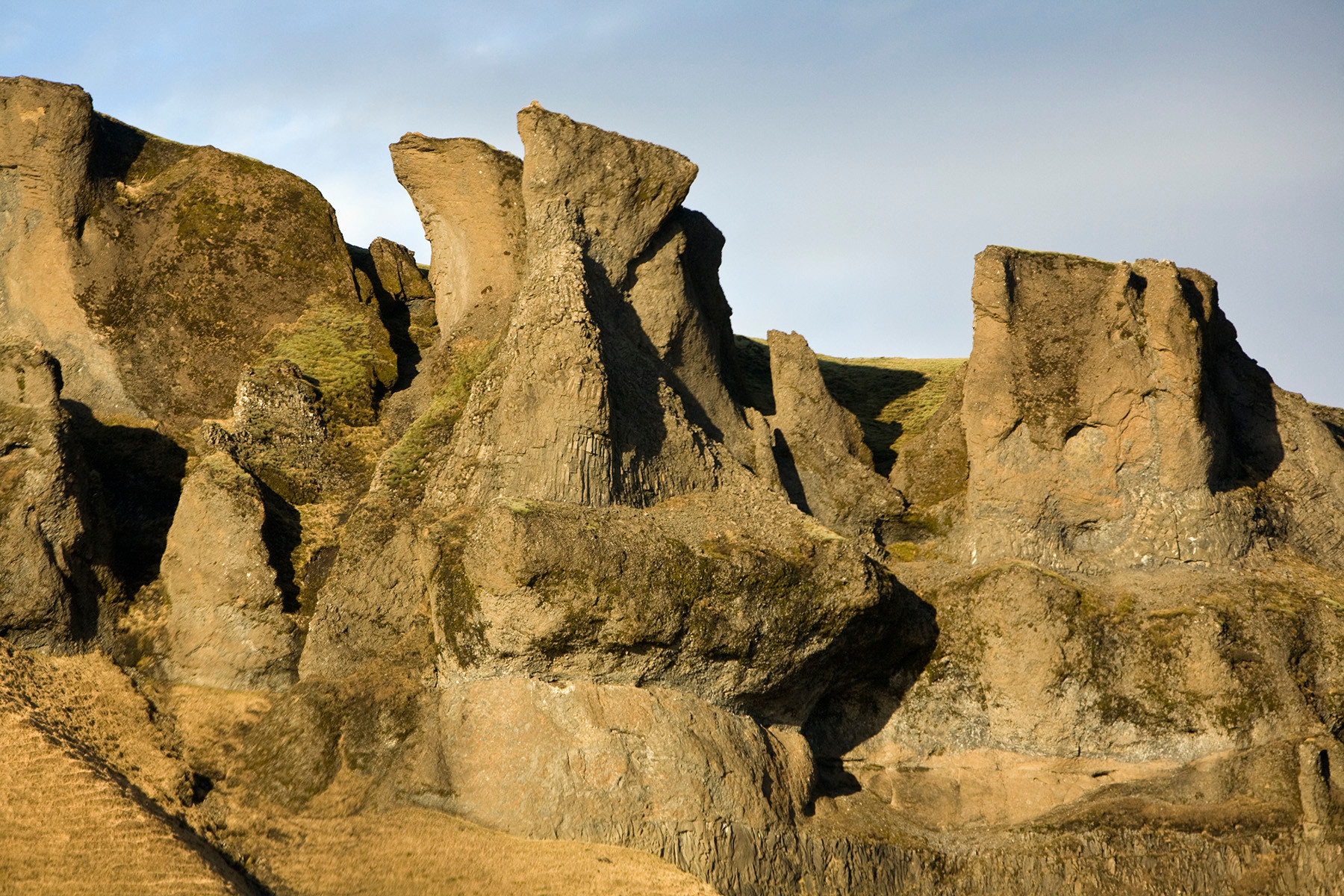 Lava Pillars Iceland near Myrdasjokull