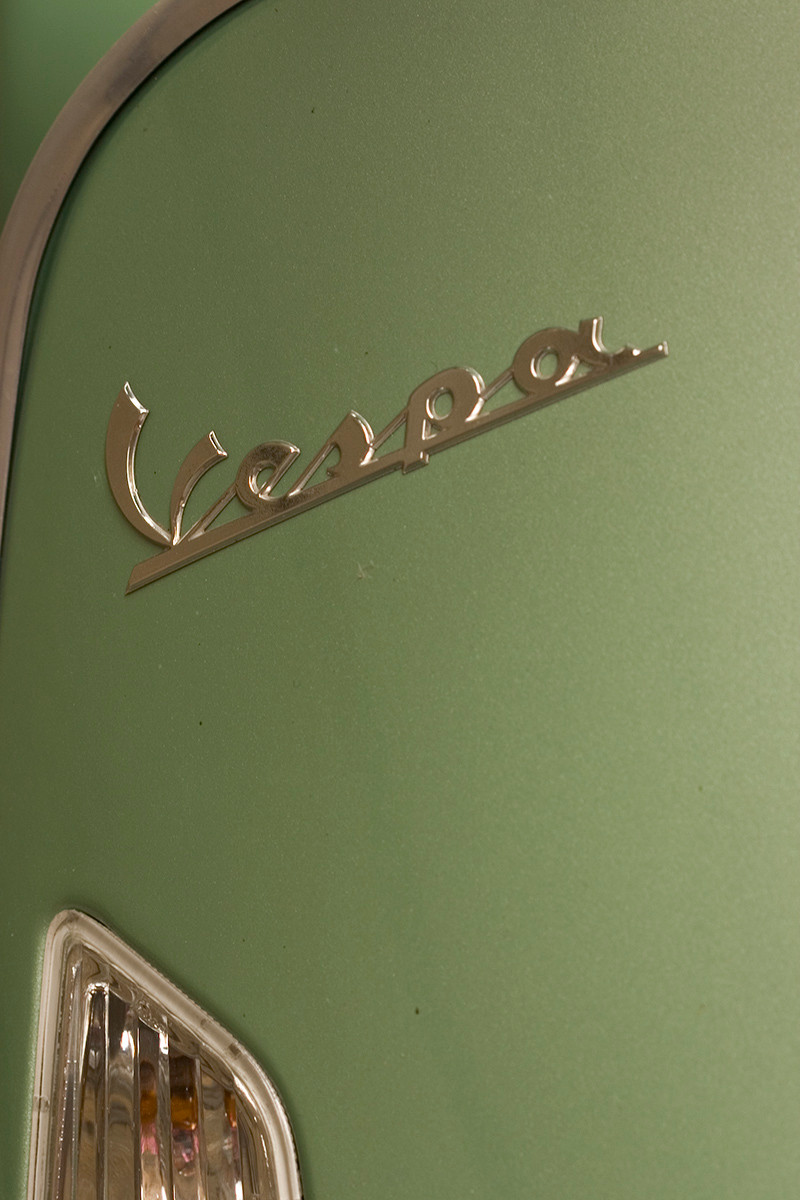 Vespa scooter, detail